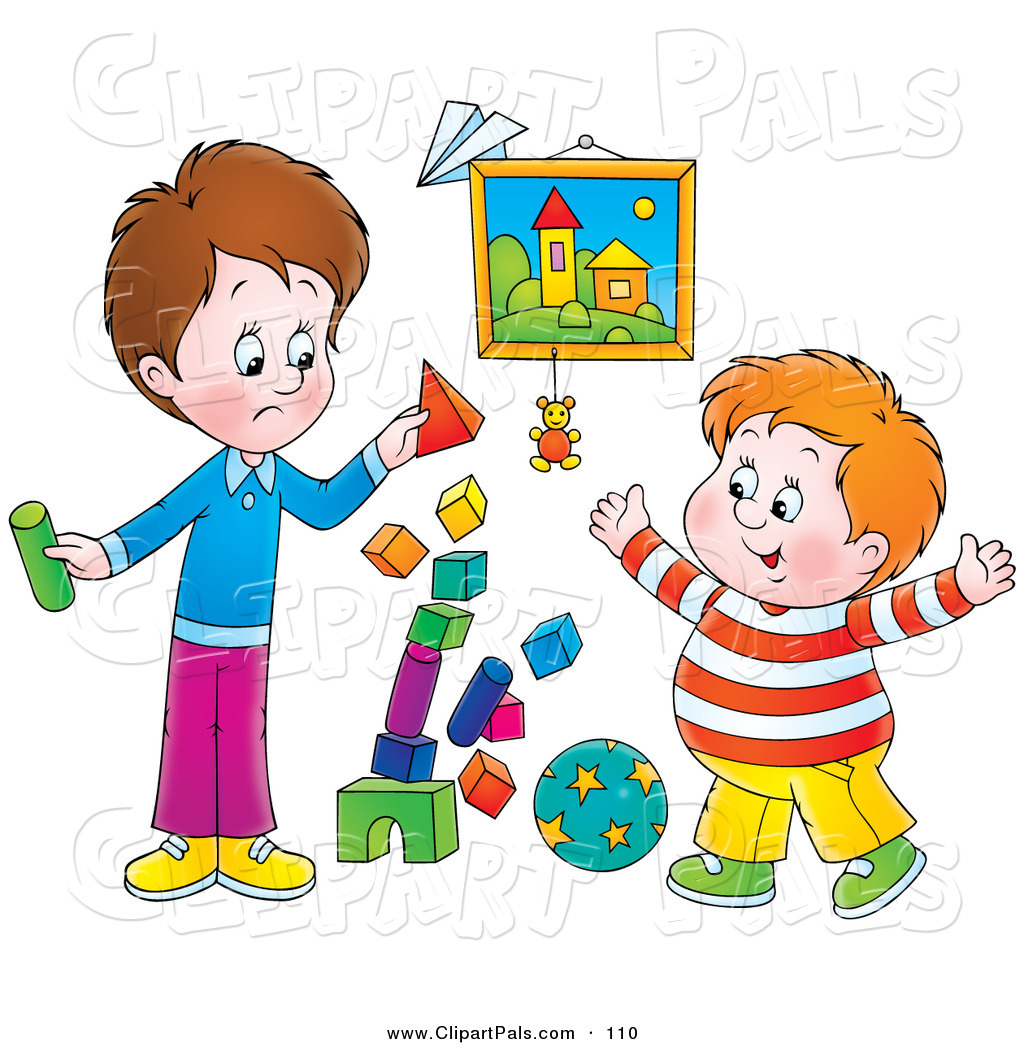 While Two Boys Play · clipart .
