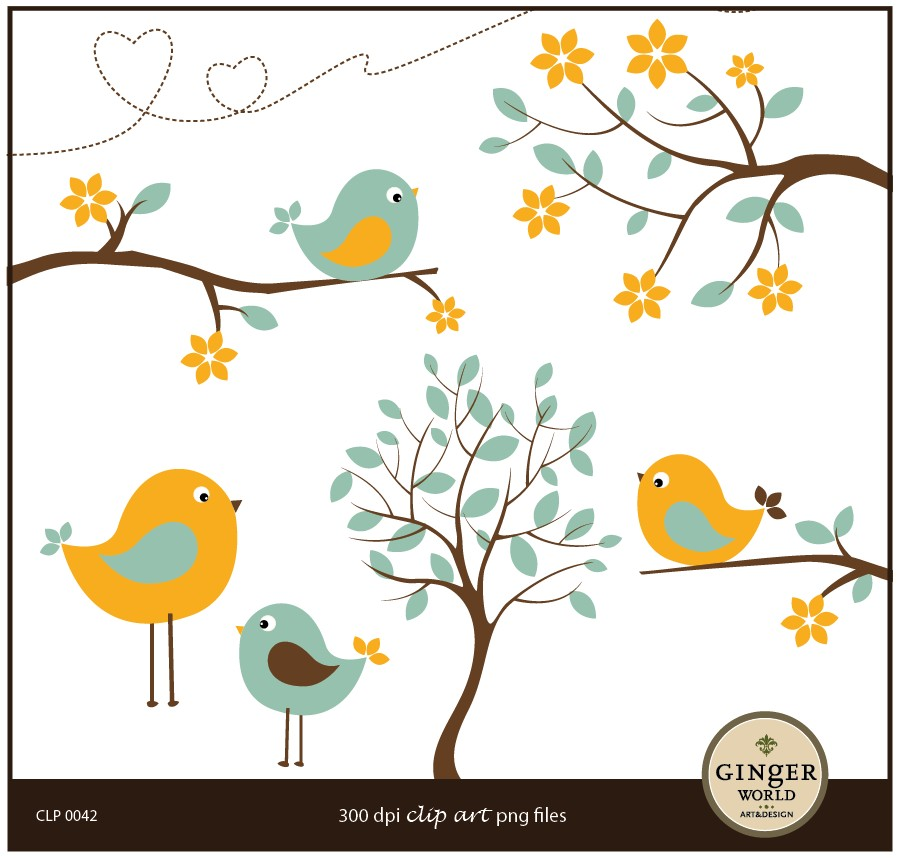Whimsical Flower Clip Art Flower Bird Cl-Whimsical Flower Clip Art Flower Bird Clip Art By-8
