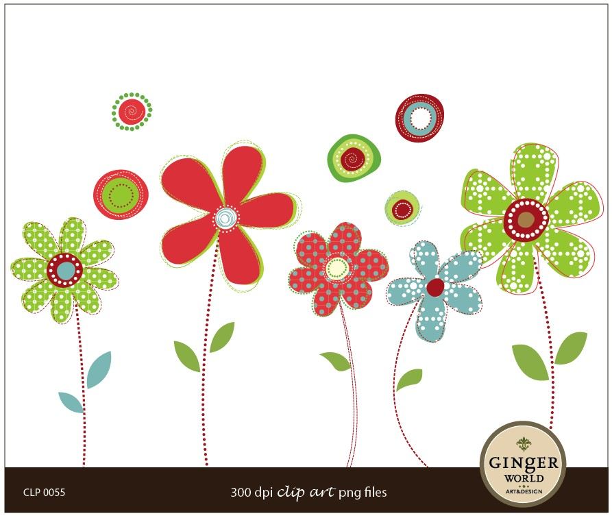 Whimsical Flower Clipart #1-Whimsical Flower Clipart #1-5