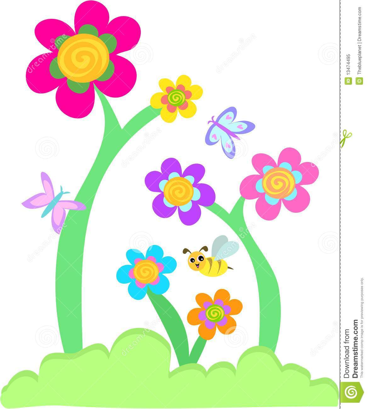 Flower Bed Clipart Abstract V
