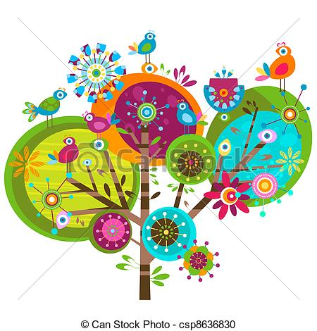 whimsy flowers - whimsy flower tree and -whimsy flowers - whimsy flower tree and birds-12