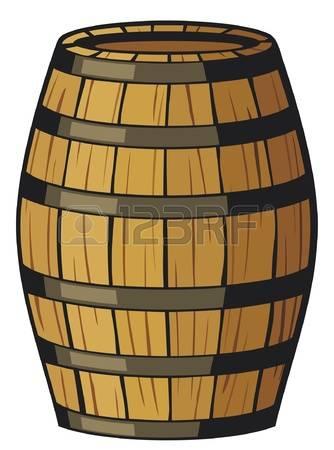 whiskey barrel: old barrel (wooden barrel) Illustration