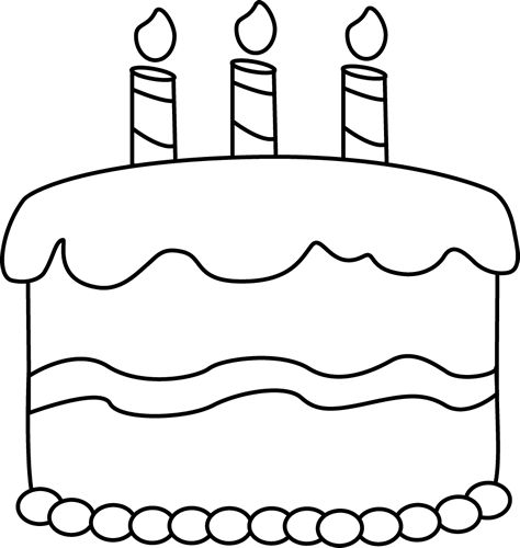 whit clipart - Black And White Birthday Clip Art