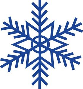 white snowflake clipart clear background