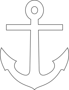 White anchor clip art at vector clip art