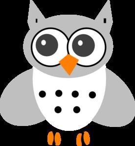 White Baby Owl Clip Art At Clker Com Vector Clip Art Online Royalty