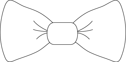 White Bow Tie - Clipart Bow Tie