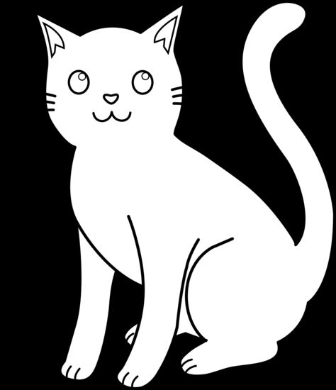 White Cat Clip Art | Kitty Cat Line Art -White Cat Clip Art | Kitty Cat Line Art For Coloring-15