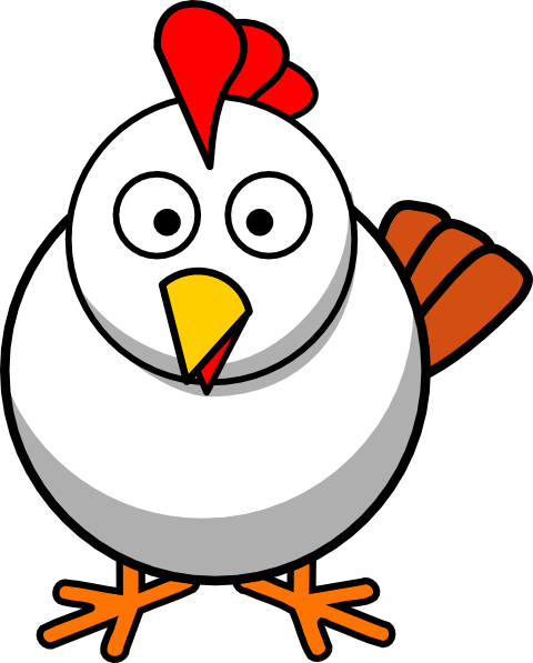 White Chicken Clip Art At ..