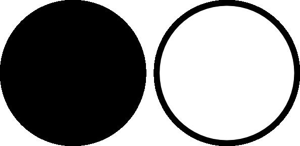 White circle clipart kid