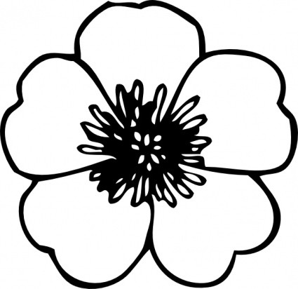 White Clipart Flower Clipart Black And W-White Clipart Flower Clipart Black And Whiteflower Flower Clip Art-15