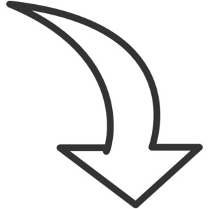 White Curved Arrow Clip Art .-White Curved Arrow clip art .-18