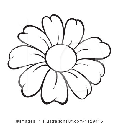 White Flower Outline Clipart Tulip Flower Outline Clipart