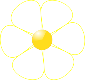 White Flower Yellow Middle Clip Art At Clker Com Vector Clip Art