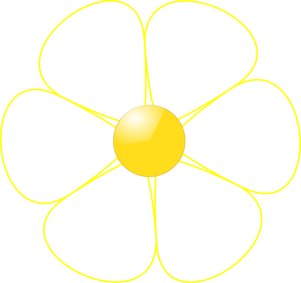 White Flower Yellow Middle clip art - vector clip art online