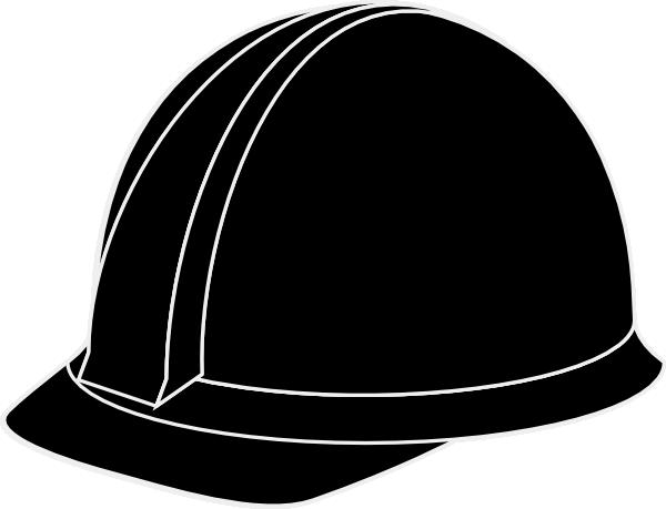White Hard Hat clip art .