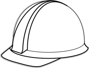 White Hard Hat Clip Art