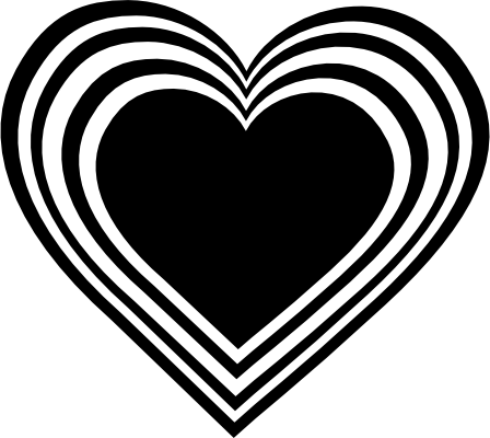 White Heart Black Background Black N Whi-White Heart Black Background Black N White Heart Clipart Png-10