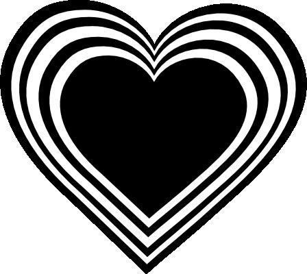 White Heart Black Background Black N White Heart Clipart Png