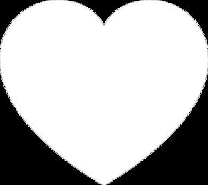 White Heart Clip Art - White Heart Clipart