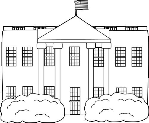 White House Bw Clipart #1