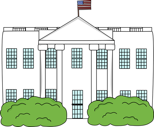 White House Clip Art Image Illustration Of The White House