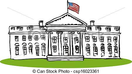 Whitehouse Retro - csp1602336 - White House Clipart