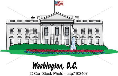 White House In Csp7103407 Search Clipart-White House In Csp7103407 Search Clipart Illustration Drawings-16