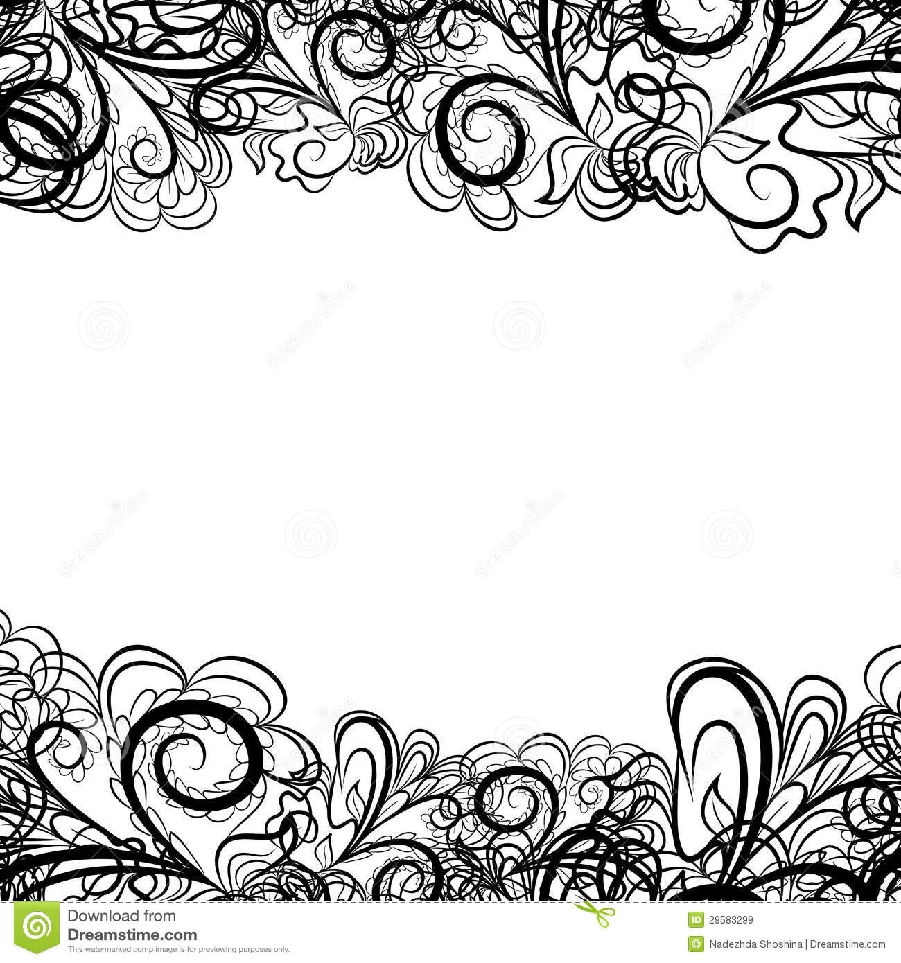 White Lace Border Clipartblack Lace Border Royalty Free Stock Images