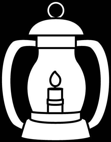 White Lantern Clip Art Image Black And W-White Lantern Clip Art Image Black And White Lantern With A Flame-18