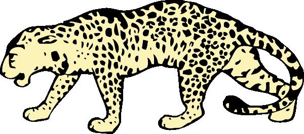 White Leopard Clipart - Snow Leopard Clipart