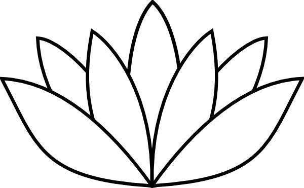 White Lotus Flower clip art