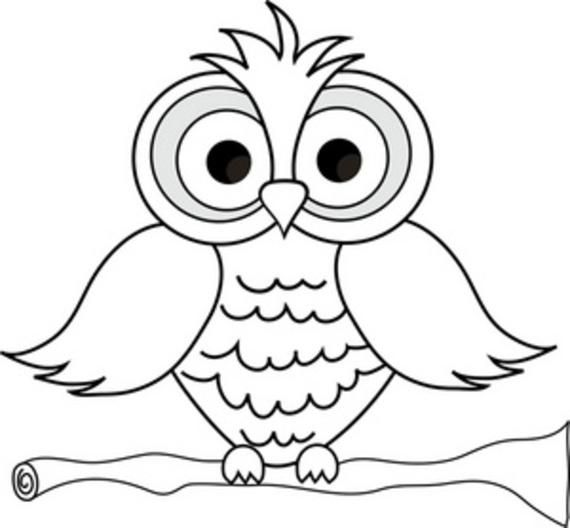 White Owl Clip Art Black and .