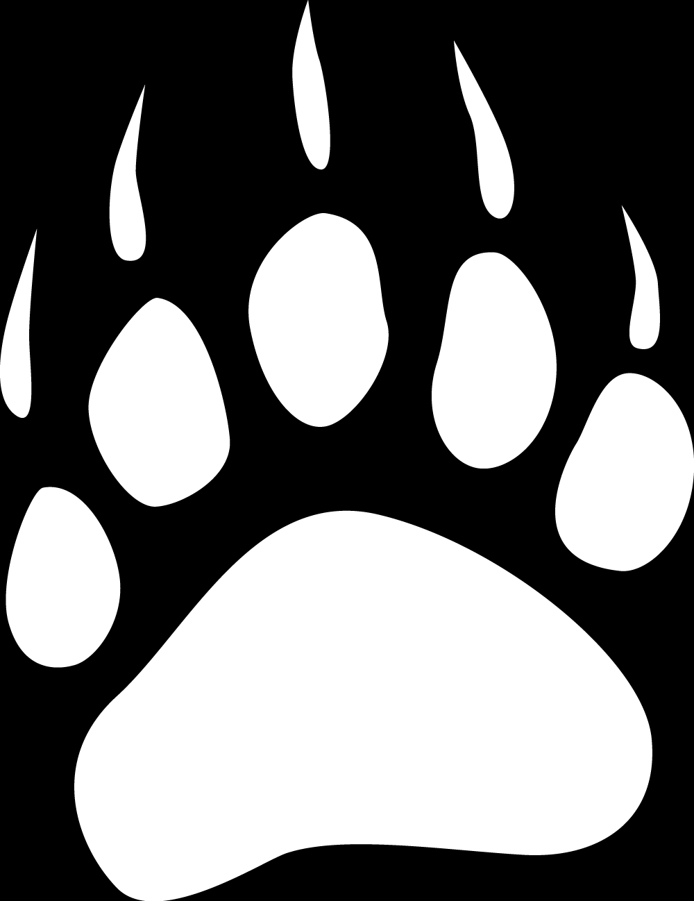 White Paw Print - Clipart library