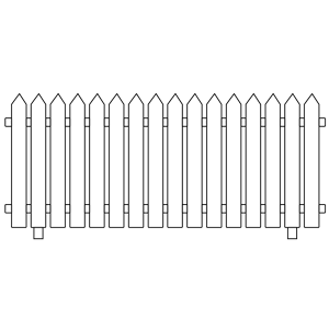 White Picket Fence Clipart Cl - Picket Fence Clipart