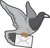 white pigeon; pigeon house; c - Pigeon Clip Art