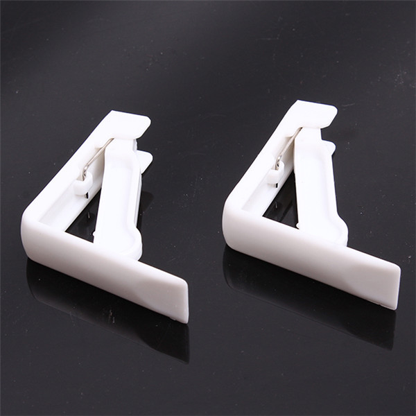 White Plastic Table Cloth Cover Clips Cover Clamp Desk Cloth Holder Spring Loaded Tablecloth Clip Party