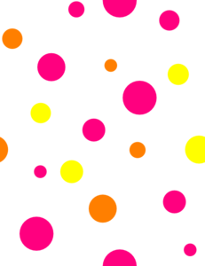 White Polka Dots Clip Art At  - Dot Clip Art