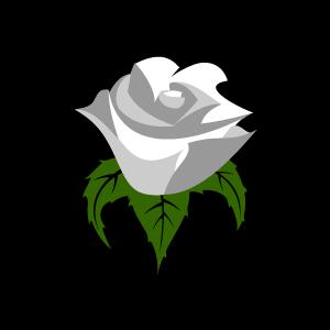 white rose clip art #46