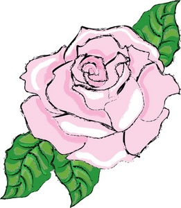 Pink Rose Clipart Image: Whit - White Rose Clipart