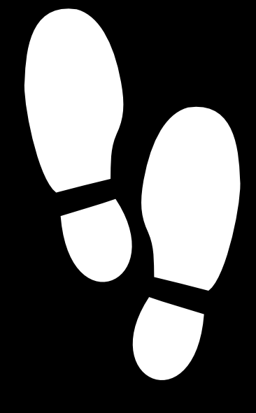 White Shoe Print Clip Art At Clker Com Vector Clip Art Online