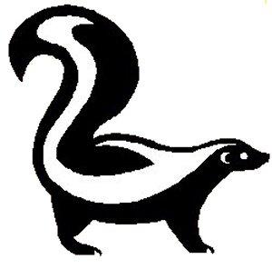 White Skunk Free Clip Art ..-White Skunk Free Clip Art ..-18