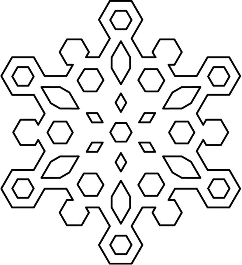 White snowflake clip art