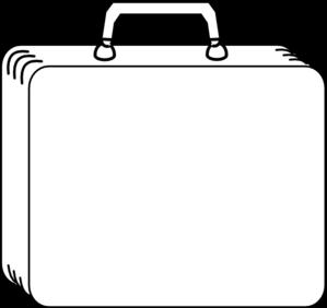 White Suitcase clip art .