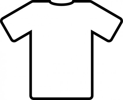 White T Shirt clip art Free vector in Op-White T Shirt clip art Free vector in Open office drawing svg-7