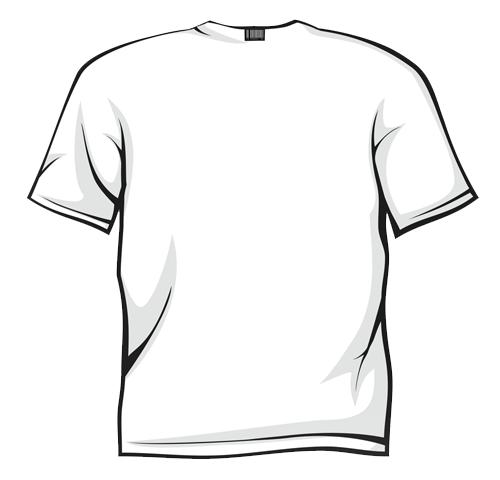 White T Shirt Clipart Clipart - Tshirt Clip Art