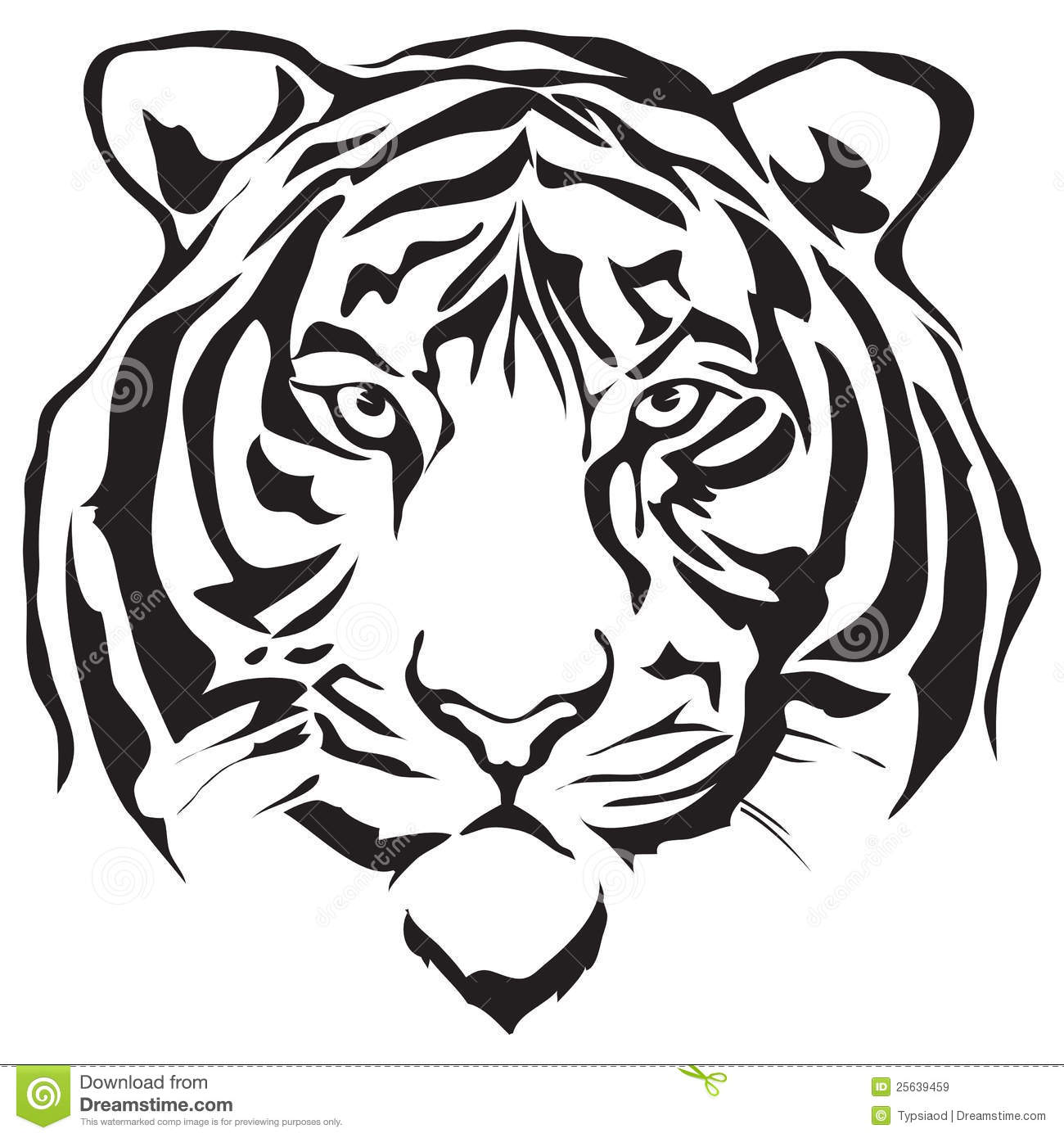 White Tiger Head Clipart-White Tiger Head Clipart-7