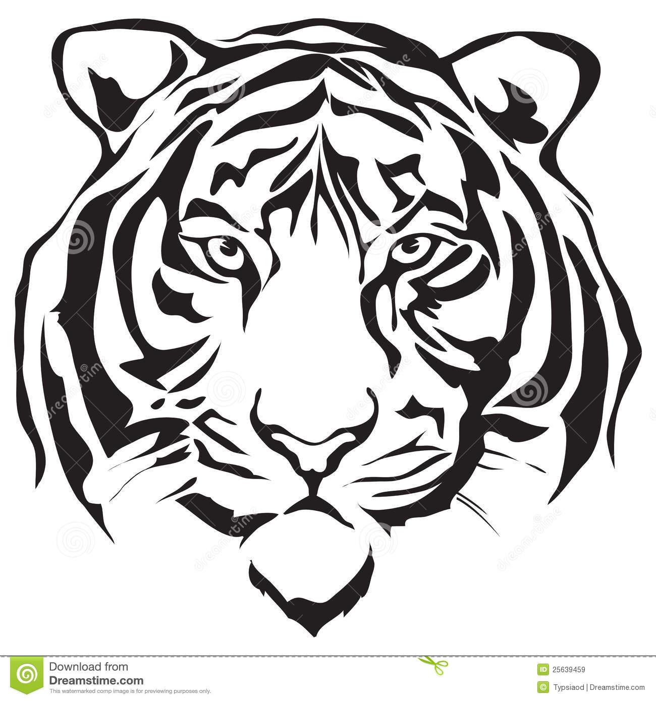 White Tiger Head Clipart