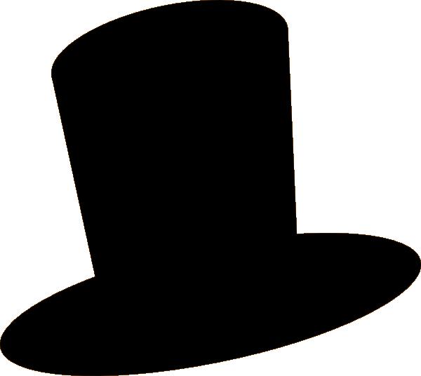 White Top Hat Clip Art - Snowman Hat Clipart