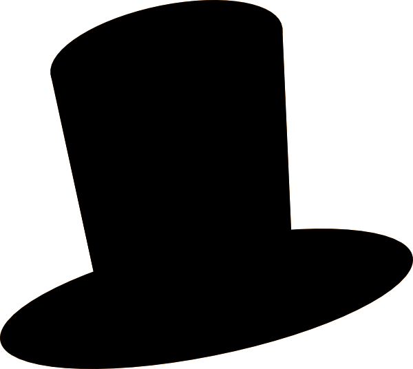 White Top Hat Clip Art